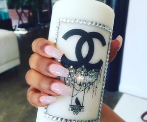 chanel, candle, and nails image