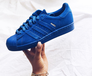 adidas, blue, and shoes image