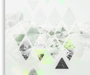 art print, home, and triangles image