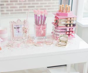 beauty, organization, and pink image