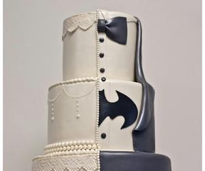 batman, bride, and cake image