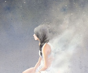 alone, girl, and hope image