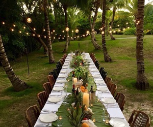 dinner, lantern, and lights image