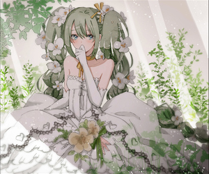 anime, vocaloid, and miku image