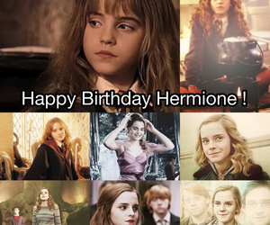 happy birthday, harry potter, and hermione granger image