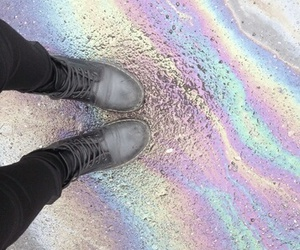 grunge, rainbow, and aesthetic image