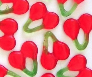 cherry, gummy, and sweet image