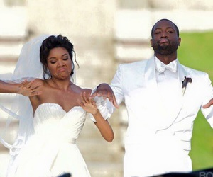 dwayne wade, wedding, and gabrielle union image