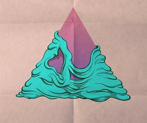 triangle, pink, and art image