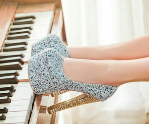 fashion, heels, and piano image
