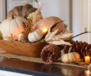 autumn, fall decor, and candles image