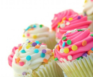 couleurs, cupcakes, and food image