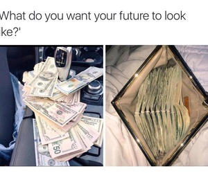 money, future, and funny image