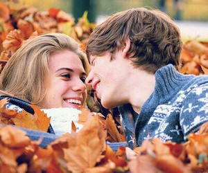 couple, cute, and fall image