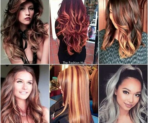 curly, different, and hair styles image