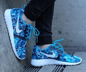 blue, cool, and nike image