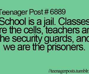 school, teenager post, and jail image