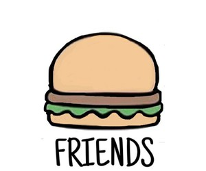 friends, burger, and food image