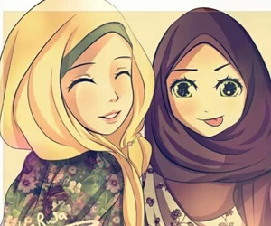 hijab, muslim, and islam image
