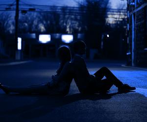 grunge, blue, and alternative image