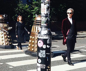doctor who, daleks, and peter capaldi image