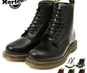 boots, dr martens, and rock image
