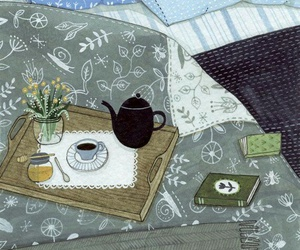 bed and illustration image