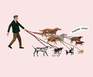 dog, illustration, and man image