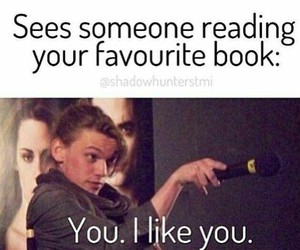 book, funny, and reading image