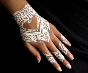 henna, white, and heart image
