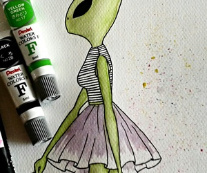 alien, fashion, and fashion drawing image