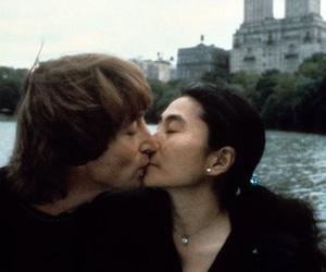 Yoko Ono, john lennon, and beatles image