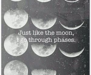 moon, life, and quotes image
