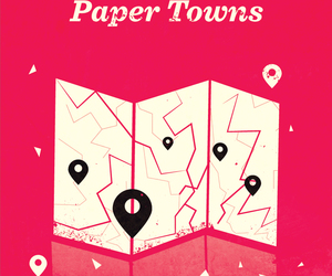 john green, paper towns, and book image