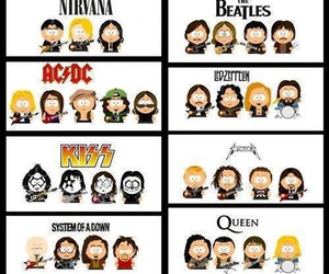 Queen, nirvana, and kiss image