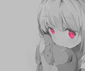 adorable, monochrome, and cute image