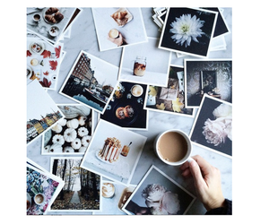 flower, starbucks coffe, and beutifull image