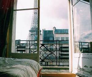 paris, eiffel tower, and bed image