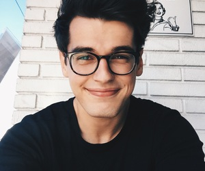 boy, glasses, and handsome image