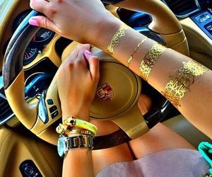 car, girl, and porsche image