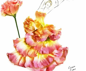 dress, flowers, and creative image