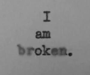broken, sad, and ok image