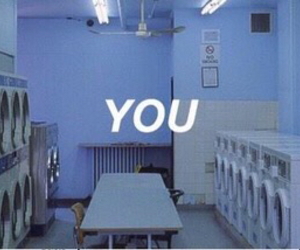 you, blue, and grunge image