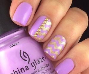 gold, design, and nails image