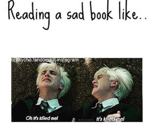 book, harry potter, and draco malfoy image