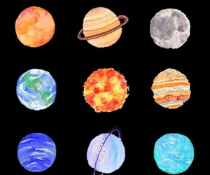 arts, colorful, and planets image