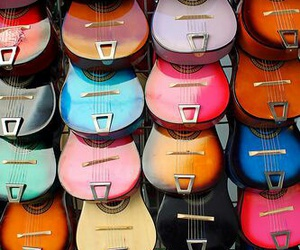 guitar, colors, and music image