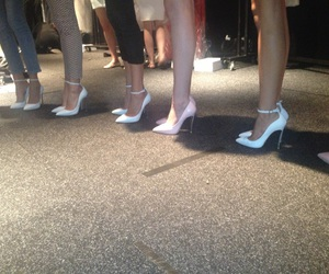 heels, shoes, and model image