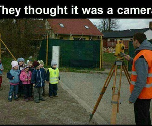 funny, camera, and kids image