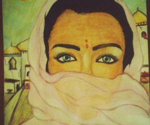 beauty, bollywood, and drawing image